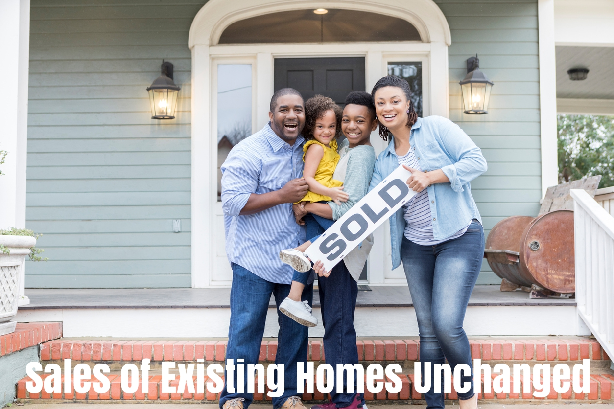 Sales of existing homes unchanged WITH TEXT