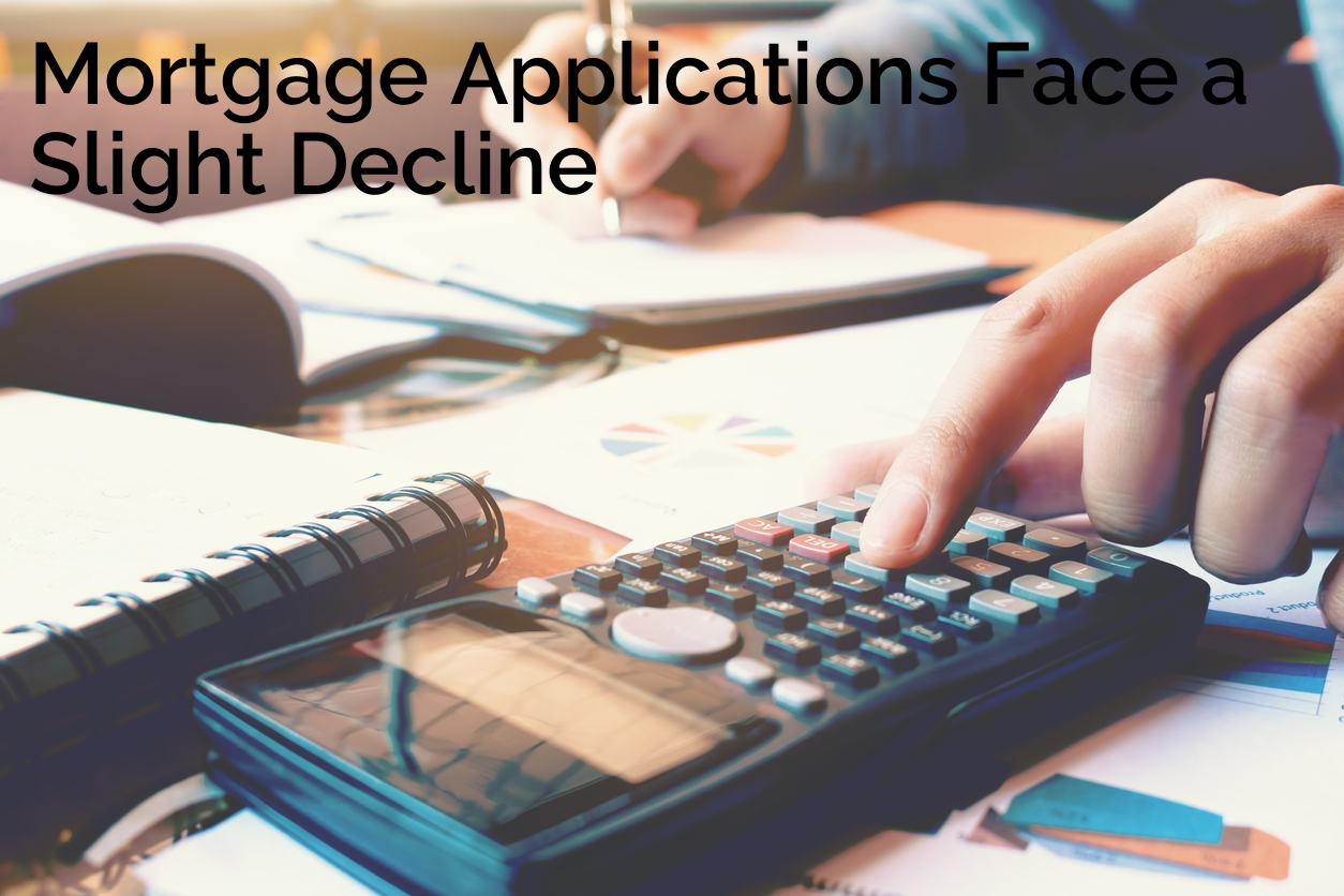 Mortgage Apps Slight Decline WITH TEXT